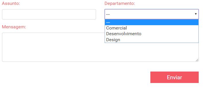 Campo de select com multiplos destinatários contact form 7