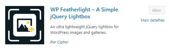 Plugin Lightbox WordPress - WP Featherlight
